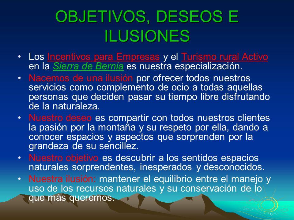 OBJETIVOS, DESEOS E ILUSIONES
