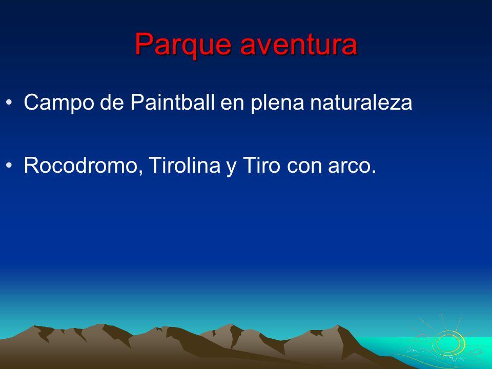 Parque aventura Campo de Paintball en plena naturaleza