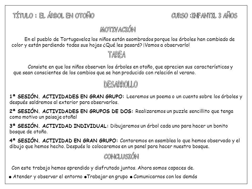 TÍTULO : EL ÁRBOL EN OTOÑO