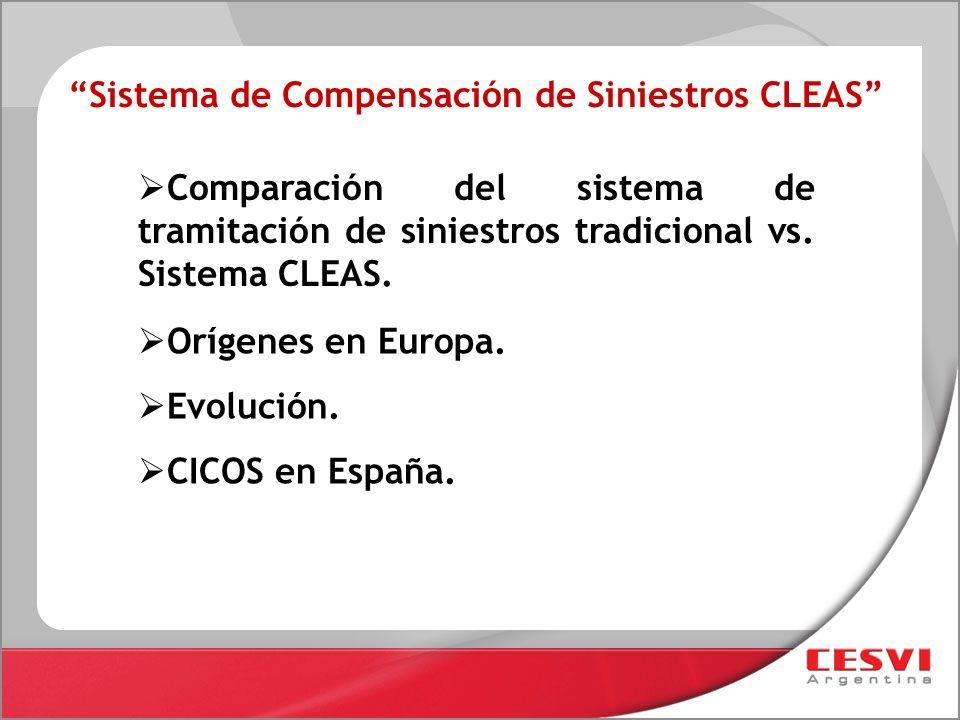 Sistema de Compensación de Siniestros CLEAS