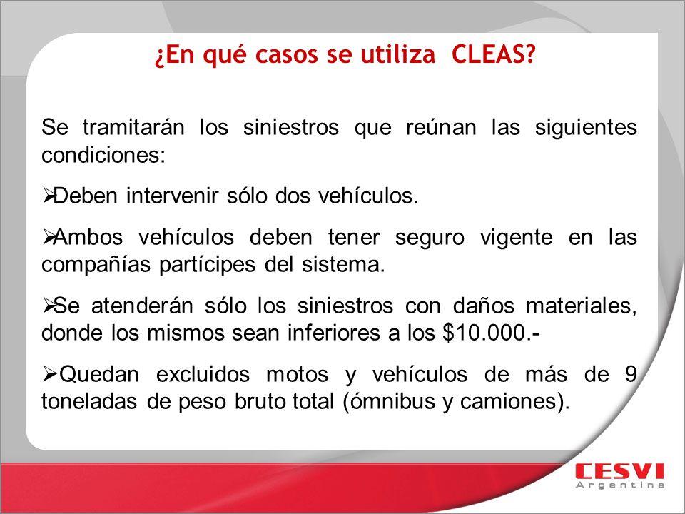 ¿En qué casos se utiliza CLEAS