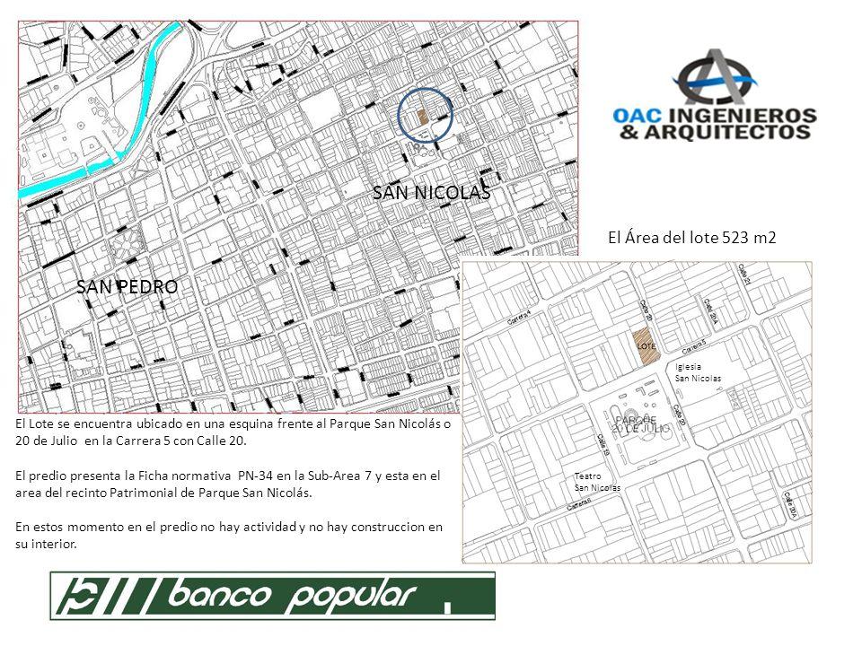 SAN NICOLAS SAN PEDRO El Área del lote 523 m2