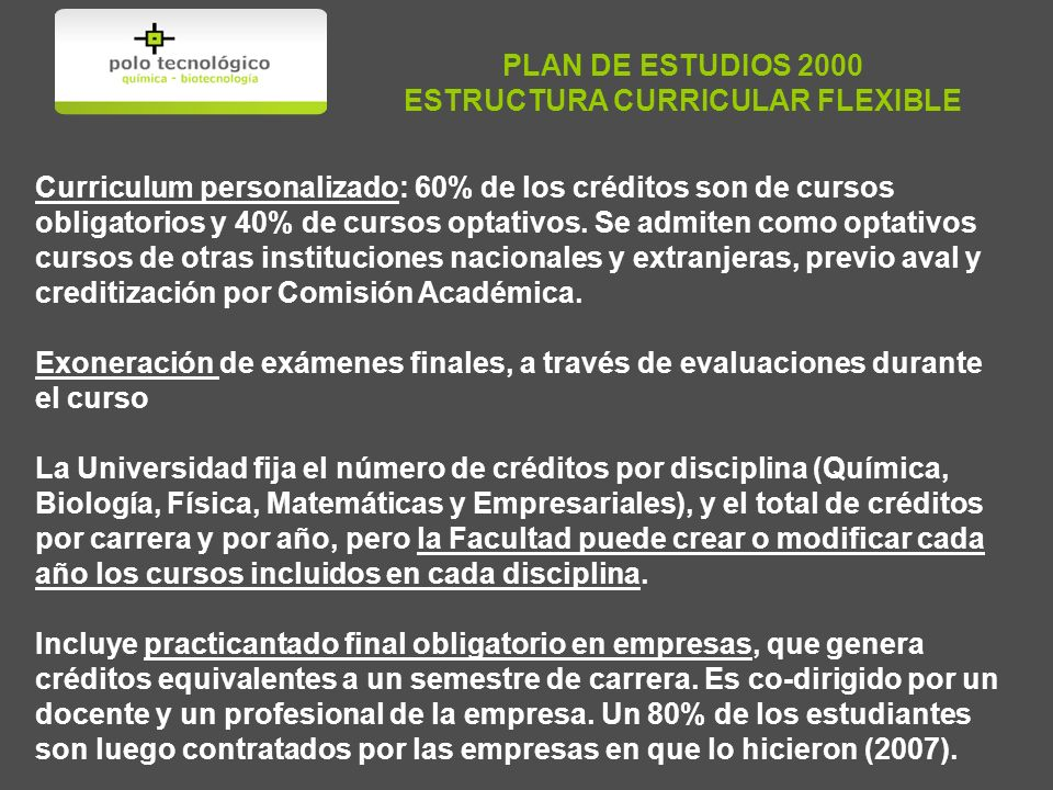 ESTRUCTURA CURRICULAR FLEXIBLE