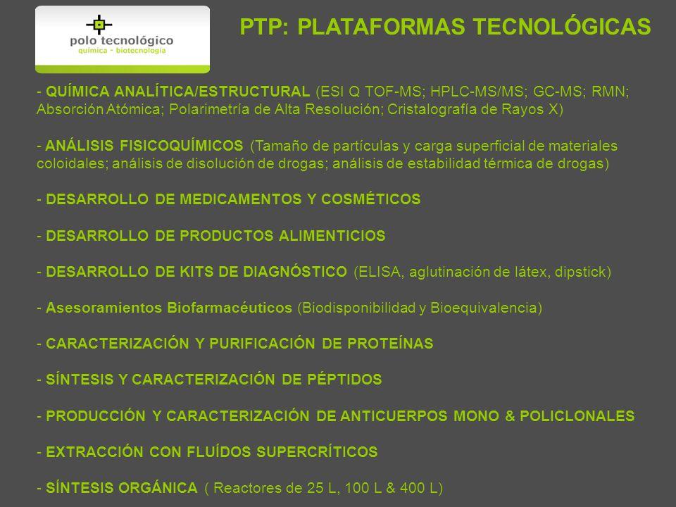 PTP: PLATAFORMAS TECNOLÓGICAS