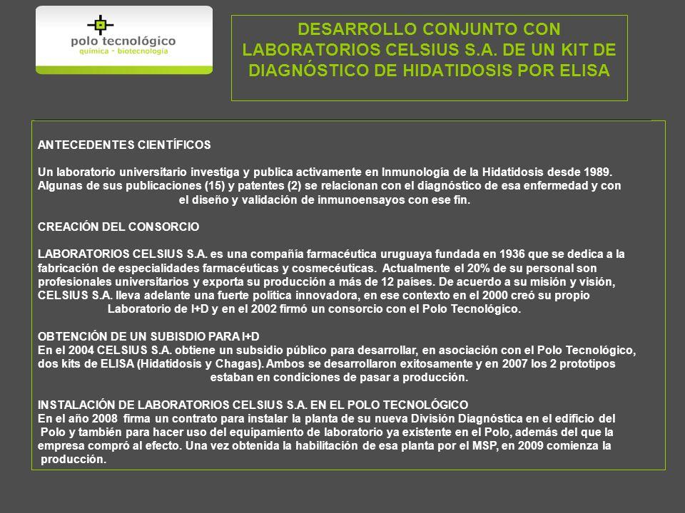 DESARROLLO CONJUNTO CON LABORATORIOS CELSIUS S. A