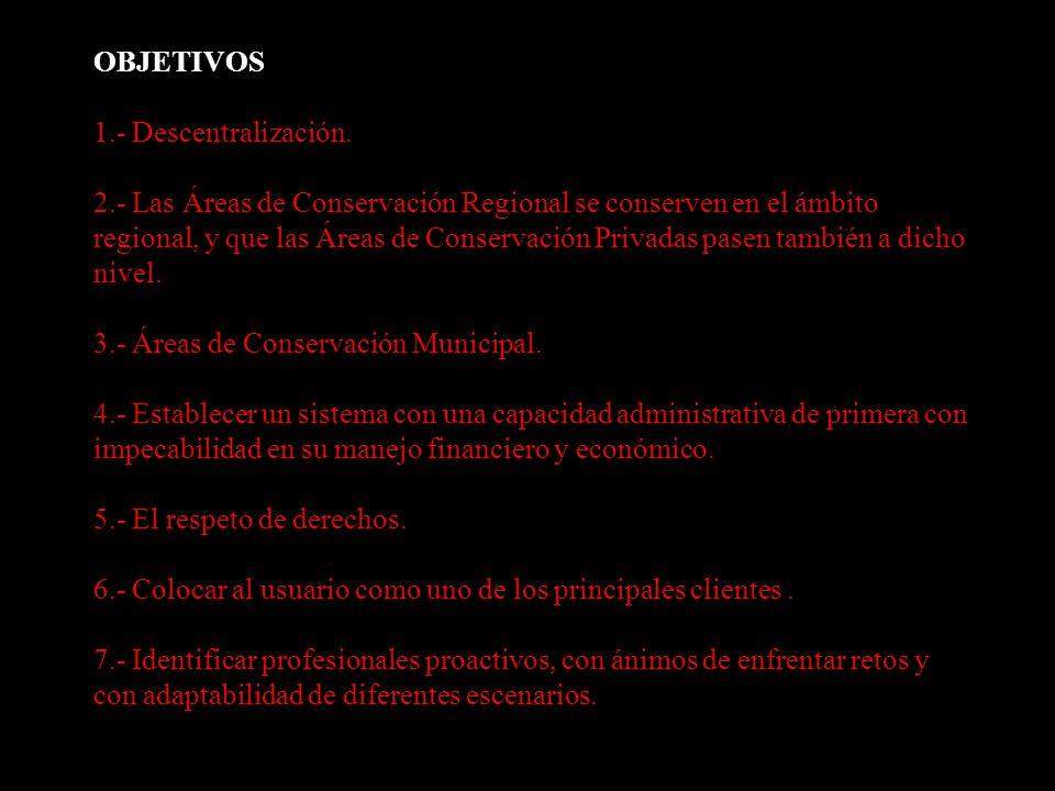 OBJETIVOS 1. - Descentralización. 2