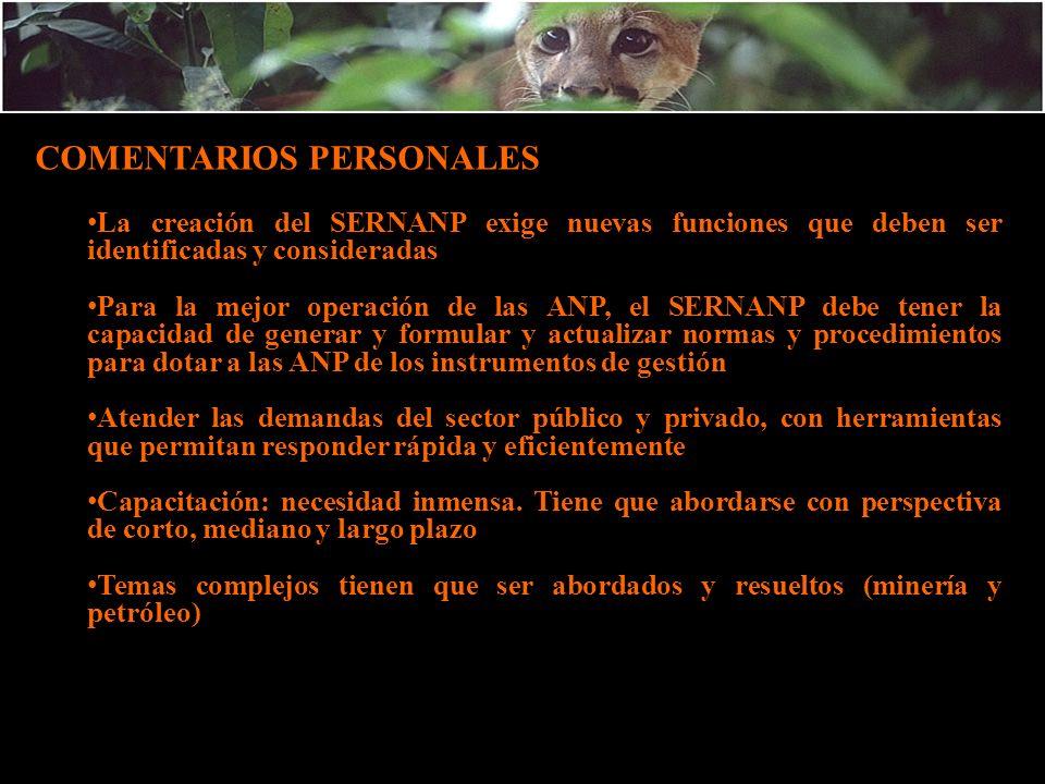 COMENTARIOS PERSONALES