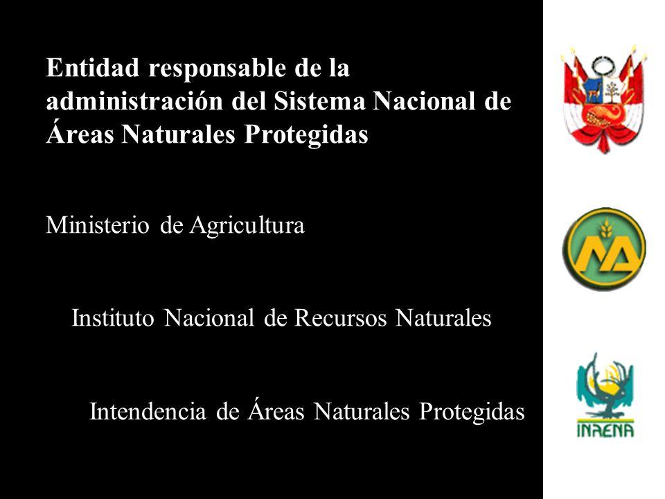 Entidad responsable de la administración del Sistema Nacional de Áreas Naturales Protegidas