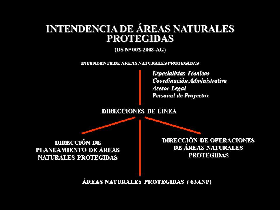 INTENDENCIA DE ÁREAS NATURALES PROTEGIDAS