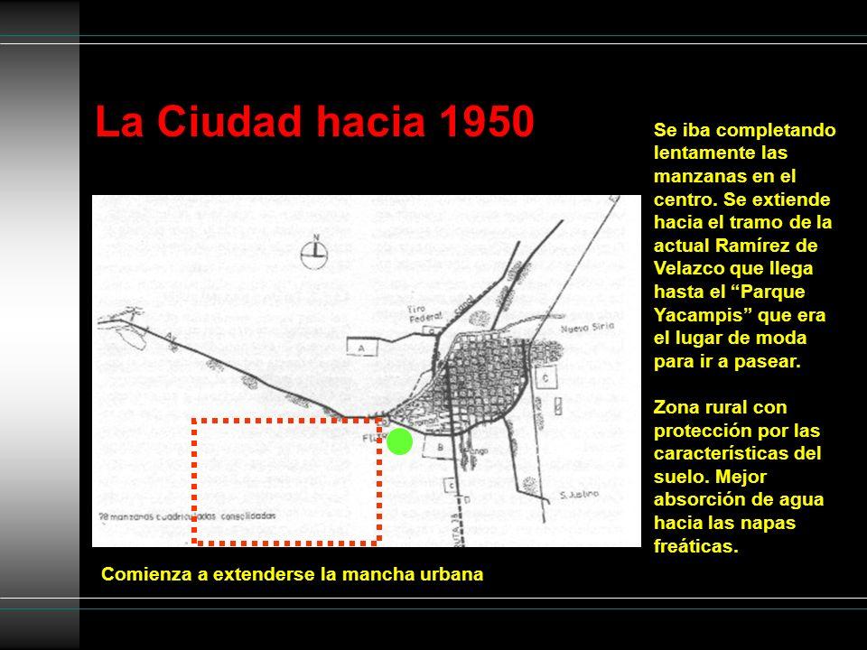 La Ciudad hacia 1950
