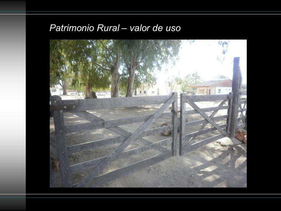 Patrimonio Rural – valor de uso