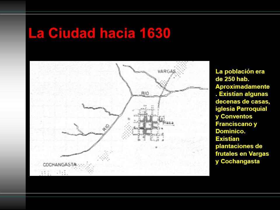 La Ciudad hacia 1630