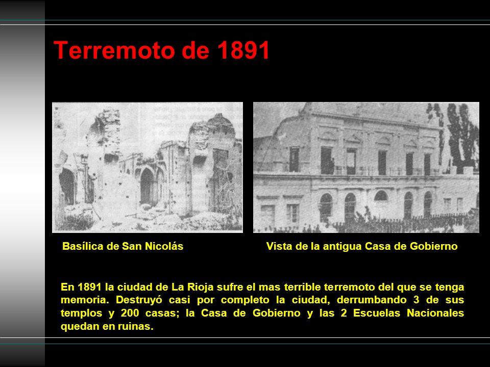Terremoto de 1891 Basílica de San Nicolás