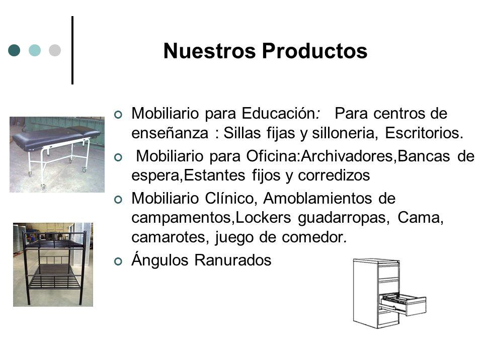 Nuestros Productos Mobiliario para Educación: Para centros de enseñanza : Sillas fijas y silloneria, Escritorios.