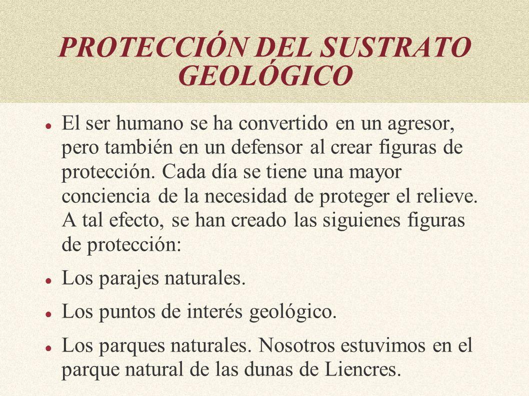 PROTECCIÓN DEL SUSTRATO GEOLÓGICO