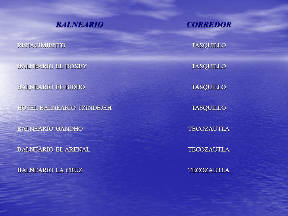 BALNEARIO CORREDOR RENACIMIENTO TASQUILLO BALNEARIO EL DOXEY