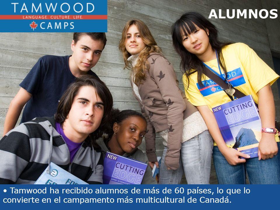 ALUMNOS Tamwood ha recibido alumnos de más de 60 países, lo que lo convierte en el campamento más multicultural de Canadá.