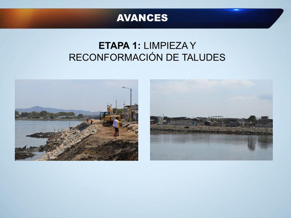 ETAPA 1: LIMPIEZA Y RECONFORMACIÓN DE TALUDES