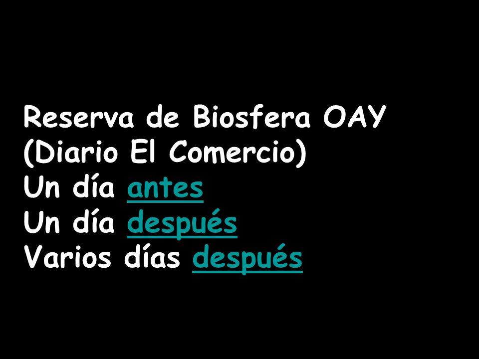 Reserva de Biosfera OAY