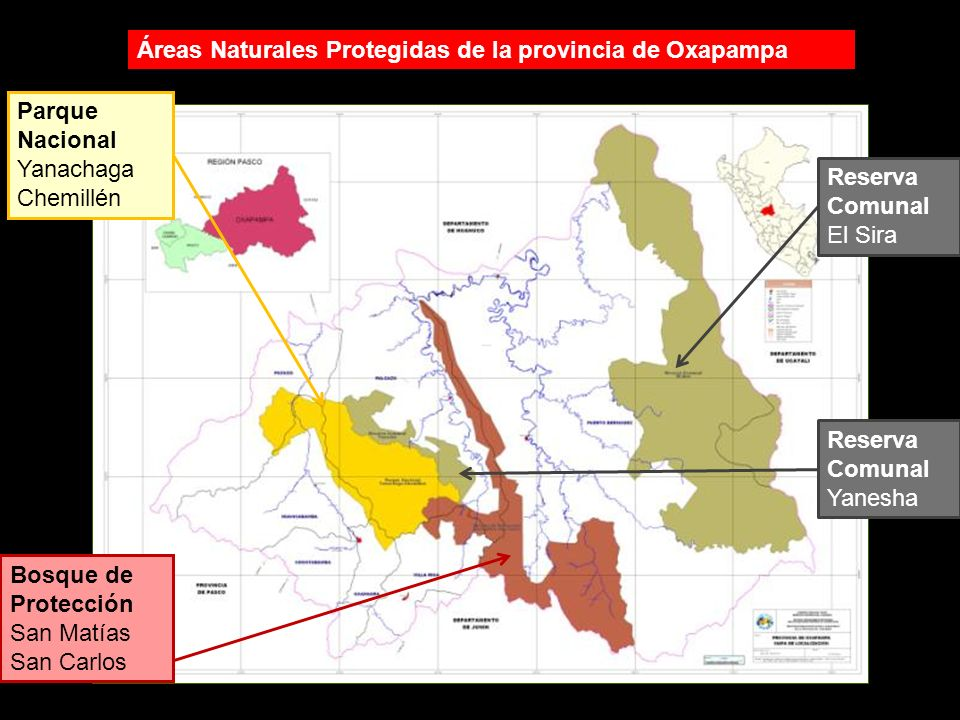 Áreas Naturales Protegidas de la provincia de Oxapampa