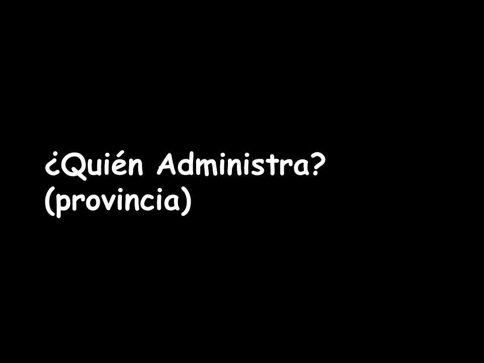 ¿Quién Administra (provincia)