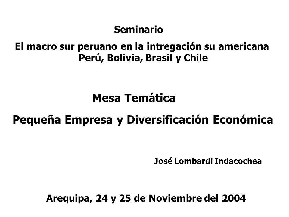 Pequeña Empresa y Diversificación Económica