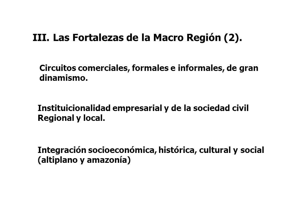III. Las Fortalezas de la Macro Región (2).