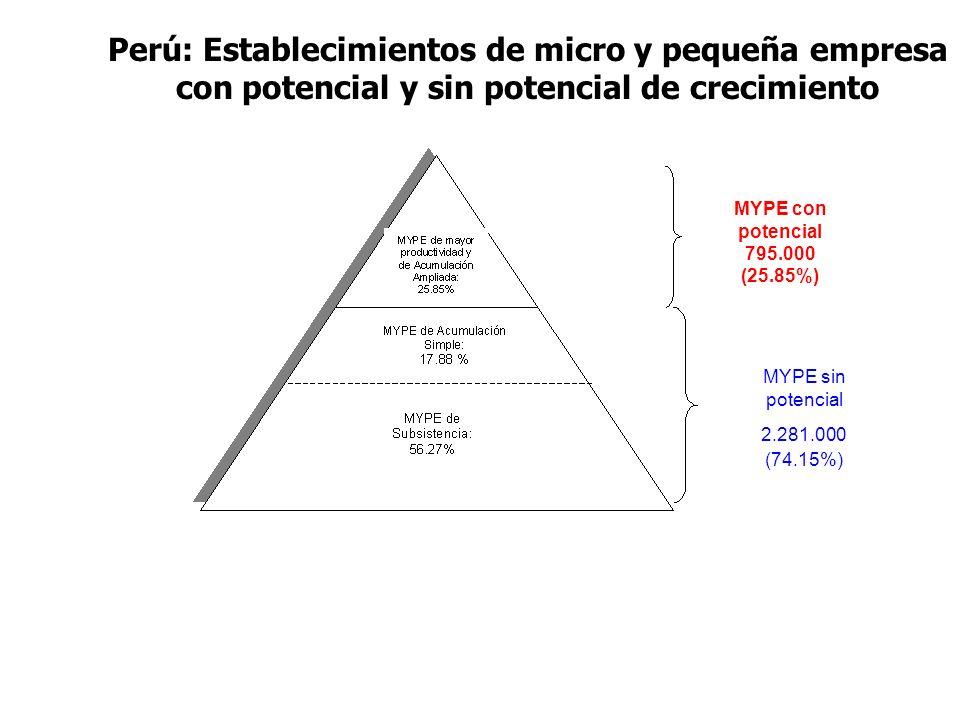 Perú: Establecimientos de micro y pequeña empresa