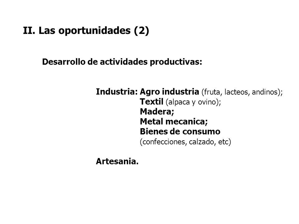 II. Las oportunidades (2)