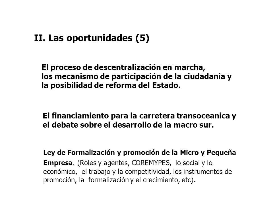II. Las oportunidades (5)