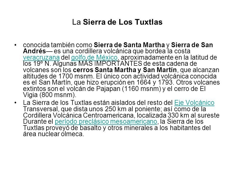 La Sierra de Los Tuxtlas