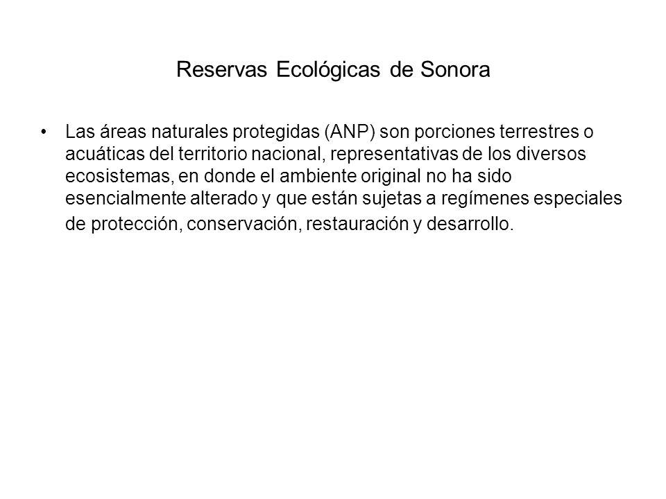 Reservas Ecológicas de Sonora