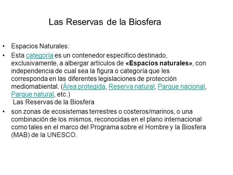 Las Reservas de la Biosfera