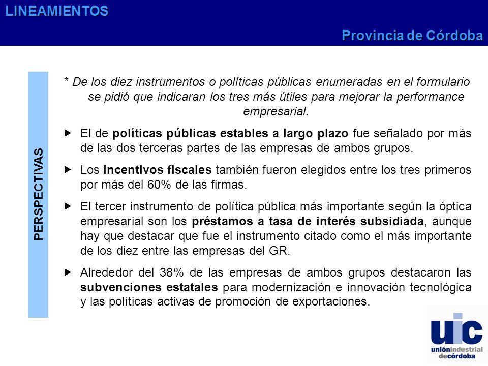 LINEAMIENTOS Provincia de Córdoba