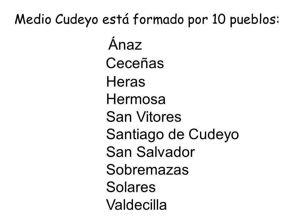 Medio Cudeyo está formado por 10 pueblos: