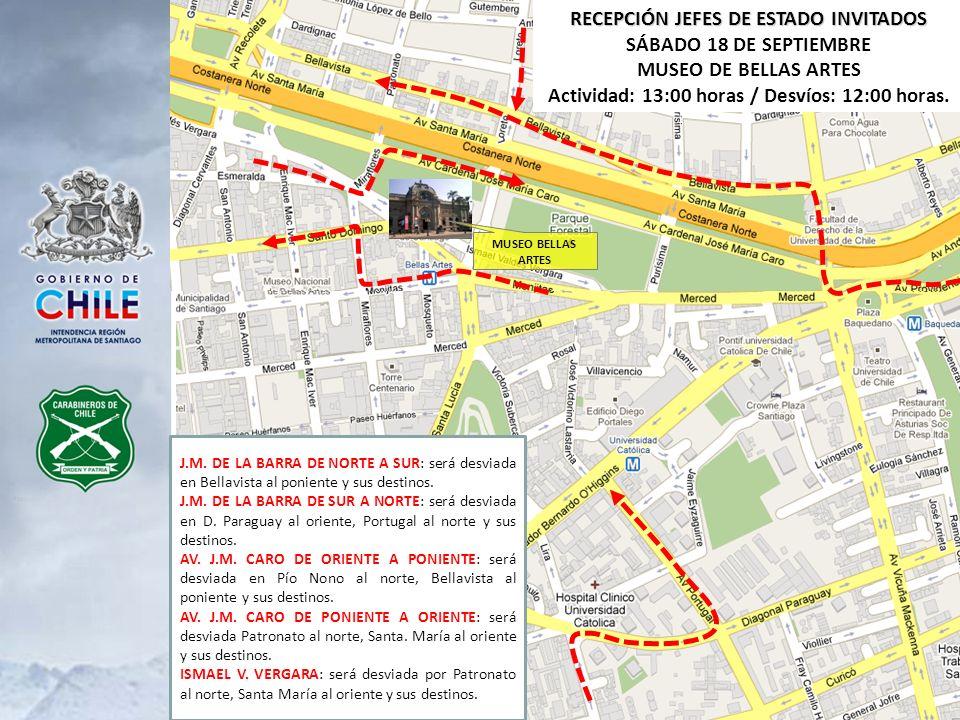 RECEPCIÓN JEFES DE ESTADO INVITADOS SÁBADO 18 DE SEPTIEMBRE