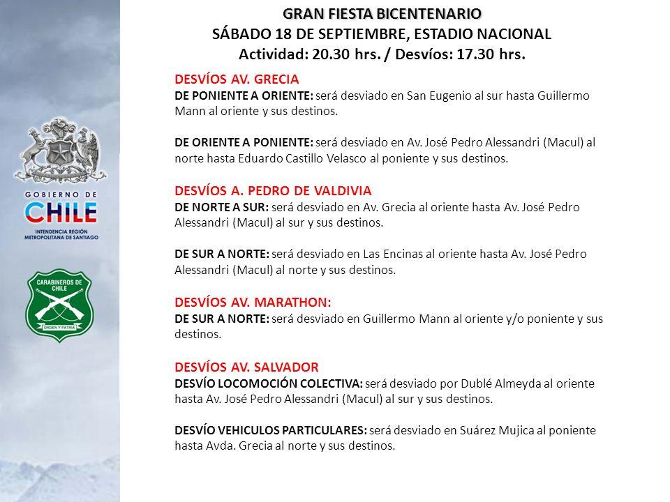 GRAN FIESTA BICENTENARIO SÁBADO 18 DE SEPTIEMBRE, ESTADIO NACIONAL