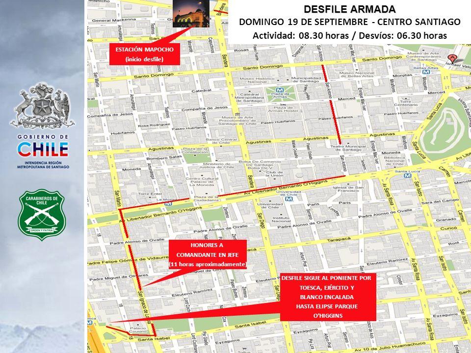 DOMINGO 19 DE SEPTIEMBRE - CENTRO SANTIAGO