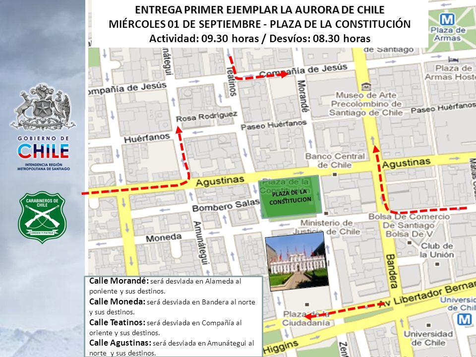 ENTREGA PRIMER EJEMPLAR LA AURORA DE CHILE