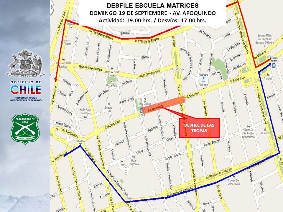 DESFILE ESCUELA MATRICES