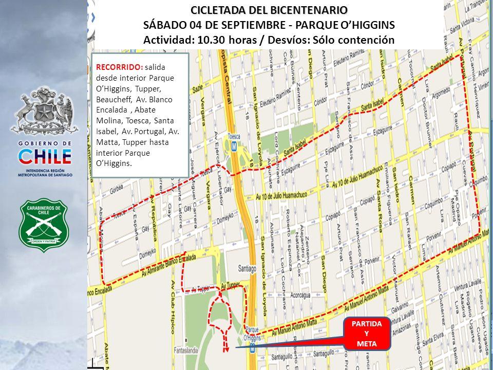CICLETADA DEL BICENTENARIO SÁBADO 04 DE SEPTIEMBRE - PARQUE O'HIGGINS