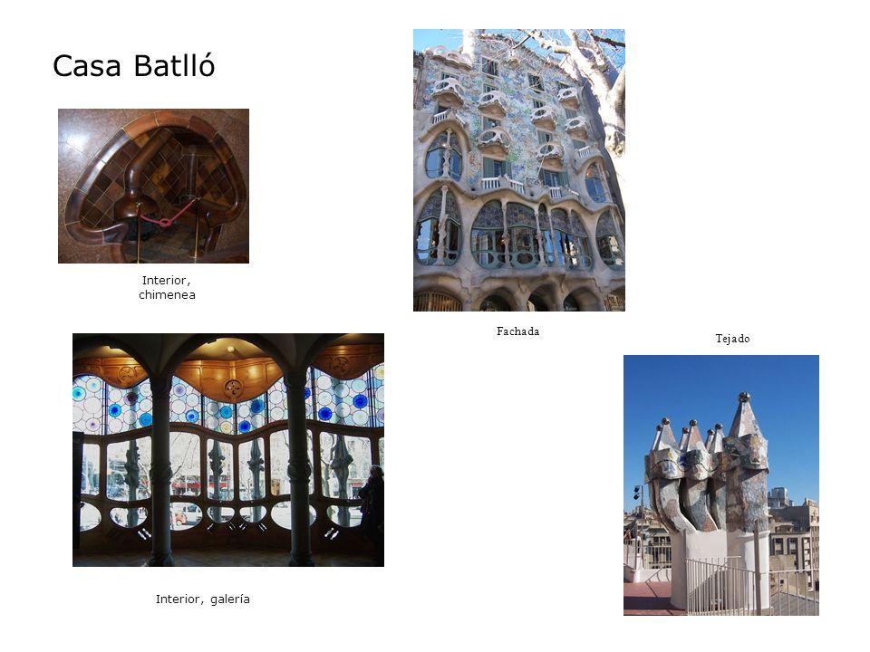 Casa Batlló Interior, chimenea Fachada Tejado Interior, galería