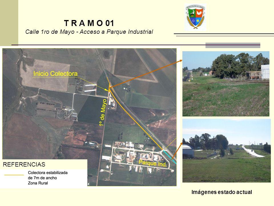 Calle 1ro de Mayo - Acceso a Parque Industrial