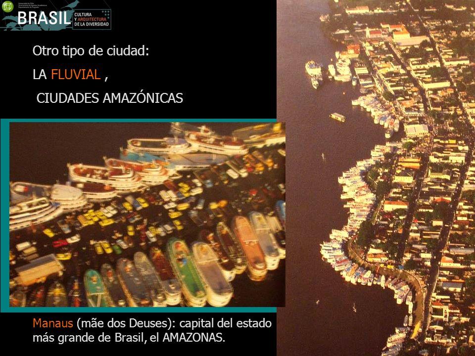 Otro tipo de ciudad: LA FLUVIAL , CIUDADES AMAZÓNICAS