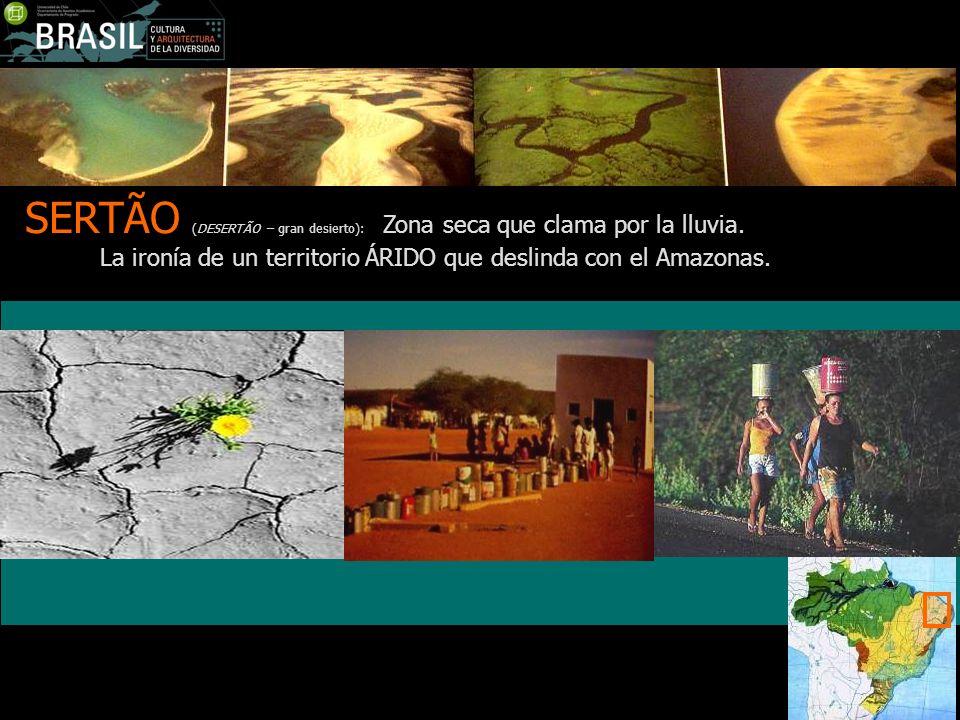 SERTÃO (DESERTÃO – gran desierto): Zona seca que clama por la lluvia.
