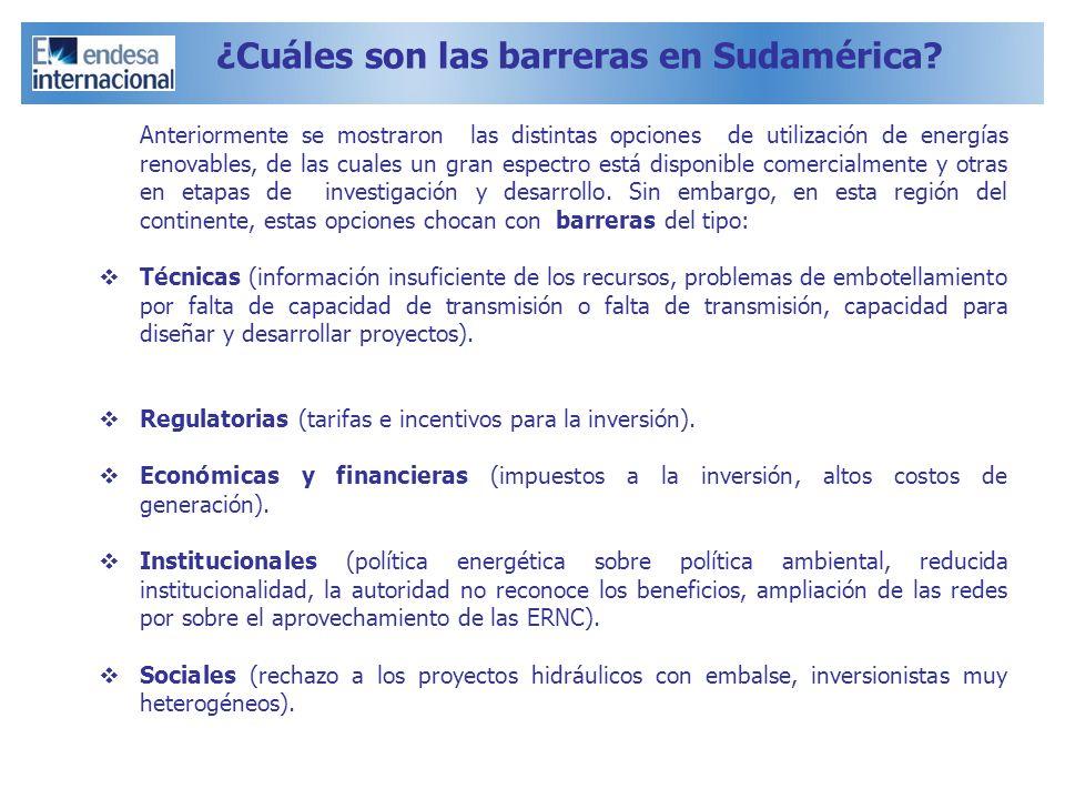 ¿Cuáles son las barreras en Sudamérica