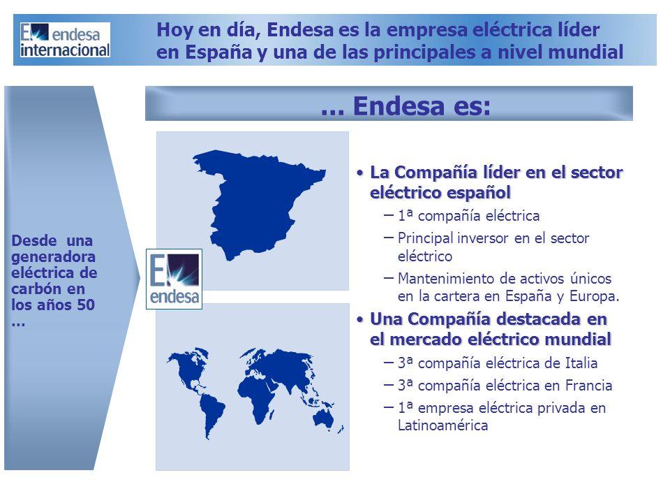 Hoy en día, Endesa es la empresa eléctrica líder en España y una de las principales a nivel mundial