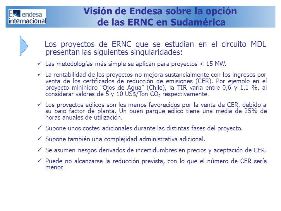 Visión de Endesa sobre la opción de las ERNC en Sudamérica