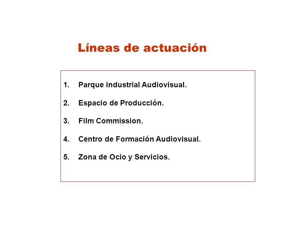 Líneas de actuación Parque industrial Audiovisual.