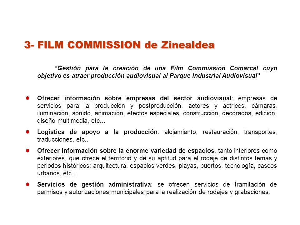 3- FILM COMMISSION de Zinealdea